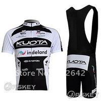 Tour de France BrandNew Black&White KUOTA Cycling Short Sleeve Clothing Jersey / Shirt + Bib Shorts Sets.Free Shipping