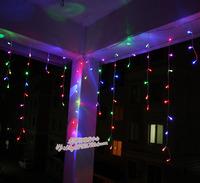 Led ice lamp garden christmas lights lantern flasher decoration lamp  light 6M 180leds multicolour light bulb heterochrosis