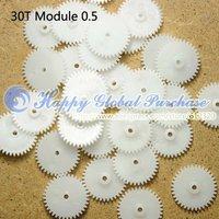 100pcs/lot 30T Module 0.5 Plastic gear,Aperture 2mm, no.27 free shipping