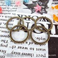 Wholesale 20pcs Dia 24MM Antique Bronze Plated Zinc Alloy Metal Round DIY Jewelry Accessories(BC-021)