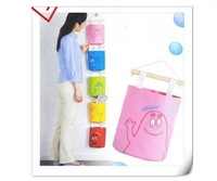 Hanging Hang Up Bag Home Stuff Storage Bag Organizer Case Wall Door Pouch,Cartoon saddlebag,Free shipping