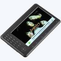 "free shipping 7"" TFT E-Book Reader Digital Pocket Edition Media Player w/ FM Radio MP3 MP5 Voice Recorder 4GB"