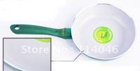 Free shipping 28cm ceramic pan ,ceramic coating inside, no cover,