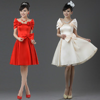 Bride 2012 dress short design bridesmaid dress bridal bag dress evening dress
