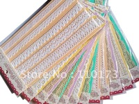 Free Shipping 12packs/lot assorted 100% cotton lace for wholesale / Decorating cotton lace pack