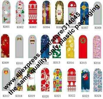 New SANTA CLAUS Designs XMAS Self Adhesive Minx Styles Christmas Metallic Nail Foil Decals Stickers
