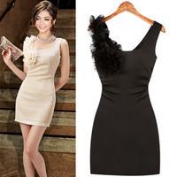 2012 summer women's fashion slim waist elegant slim suspender skirt tank dress one-piece dress