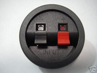 2pcs Dual Jack TERMINAL Speaker Cabinet PUSH-IN CUPS R2(China (Mainland))