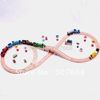 Thomas  Wooden TRAIN  tracks kids wooden toy free shipping set track 1 set=19pcs kids' gift Educational toys