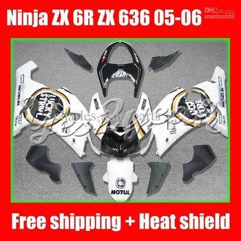 Lucky Strike for KAWASAKI NINJA ZX 6R 636 05-06 ZX-6R ZX6R ZX636 6 R 05 06 2005 2006 Fairing Kit