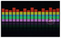 Free shipping 90cmx25cm Car Music rhythm lamp led sound activated equalizer Multi color flashing