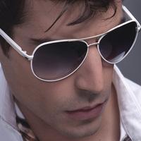 Male large sunglasses white frame sunglasses fashion drivers glasses star style