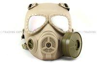 Airsoft Anti Fog Turbo Fan System Full Face Protector Gas Mask MO4 Tan