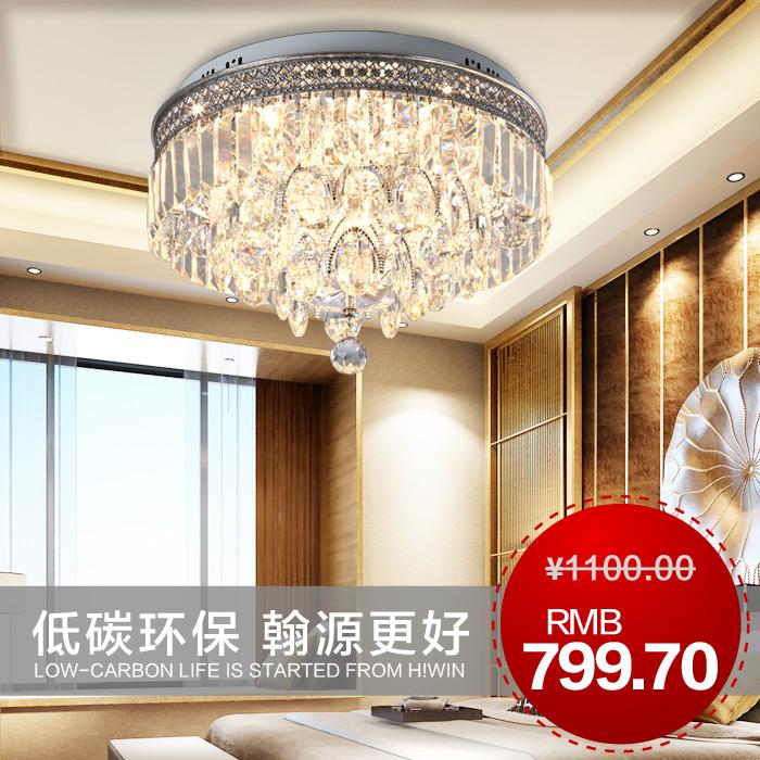 modern luxury crystal lamp brief bedroom lamp ceiling