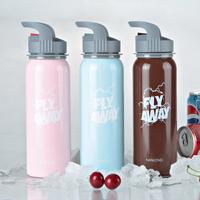 Nanlong flying heart series stainless steel single tier sports water bottle outdoor sports bottle glass nle-75s3a