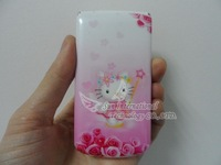 Free Shipping  Hello Kitty W999 Flip Russain Mobile Phone Analog TV Cell Phone