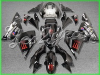 Fit Ninja ZX-10R 04 05 Red Black ABS Fairing ZK230