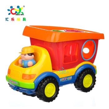 Department of music toy electric intelligence engineering car - multifunctional dump truck flash music deformation rope building