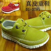 Child genuine leather children shoes male female child casual shoes md light non-slip shoes lacing children shoes sport shoes 31