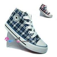Canvas shoes children shoes medium cut skateboarding shoes lacing male child girls shoes child casual shoes 31 - 36 -xjx2
