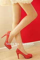 free shipping !New han2 ban3 tide female waterproof table wedding shoe ultra-high with leisure
