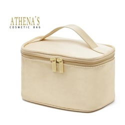 Free Shipping! 2012 light gold portable makeup box for women, waterproof 60g gift bag make up(China (Mainland))