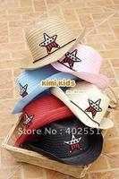 [CPA Free Shipping] Wholesale Kids Straw Cowboy Hat / Multi-Color Boys Cowboy Cap 10pcs/lot (SY-31)