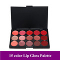 Free Shipping + Pro 15 Color Make Up Lip Gloss Palette/ Makeup Lipstick Cosmetic Lips