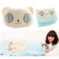 free shipping gift Cat cartoon bear cotton air conditioning cushion is pillow dual(China (Mainland))