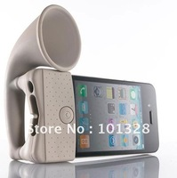 Silicone horn stand mobile speaker