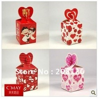 100pcs/lot Wedding Supplies Candies Box Packaging Personality Candy Box Four Kinds To Optional