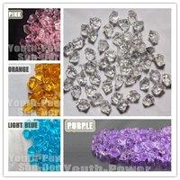 Acrylic Crystal Aquarium Fish Tank Stones Gems U-Pick colors 160pcs Diamond look Stone for Vase Wedding Christmas Decoration
