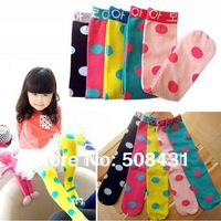 free shipping  knee socks for girls child kids autumn and winter polka dot stocking baby Sock