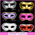 wholesale halloween products christmas item masquerade party ladies half face masks painted flower around masks for festival