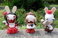 Best selling!! Rayman Raving Rabbids Rabbit Mini Figures Toy Model Free shipping, 20 PCS/LOT