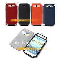 Smart Leather Case Cover For Samsung S3 SIII i9300 i9308 Muti-Colors free shipping by air mail ED729
