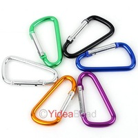 150pcs Mixed Outdoor High Quality D-type Quickdraw Locking Aluminum Carabiner 260845
