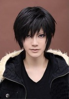 Code Geass Lelouch of the Rebellion Lelouch Lamperouge Black Cosplay Wig