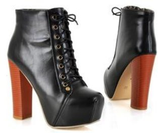 ankle boots high heel shoes Короткий winter Модный sexy warm Мех buckle Женщины ...