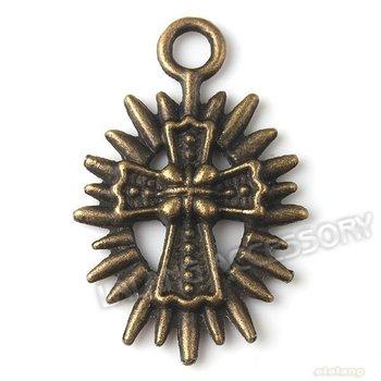Promotion Zinc Alloy Cross Shape Antique Bronze Plated Charms Fashion Pendant 32*21*3mm Fit Jewelry Making 120pcs/lot 140927