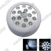 6pcs H21 15 LED Super Bright PIR Infrared Auto Sensor Motion Detector Wireless Light White