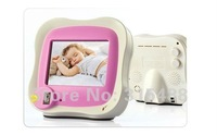 "Free Shipping 3.5"" Color LCD Wireless Baby Monitor Video Camera Night vision"