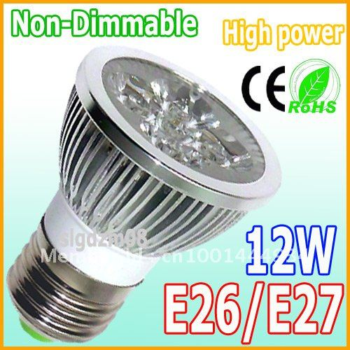 150X Factory Low-Cost Sales Energy-saving Non-Dimmable E27/E26 4X3W 12W LED Light Lamp Spot light LED Spotlight(China (Mainland))
