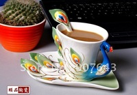 Free shipping 2014 Christmas gift Super beautiful high quality chinese ceramic cup Enamel porcelain coffee mug