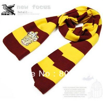 Harry Potter Scarves Movie Fans' Favorite School Unisex Striped Gryffindor Scarve Free shipping SHY01