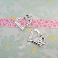 100 Heart Butterfly Acrylic Buckle Shower Ribbon Slider Craft Wedding Party Favor Fit Ribbon below 1.40cm