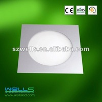 Wells pure white 8W led panel light Asia standard with 3yrs warratny ( CE&RoHS&FCC)