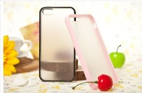 case for IPhone 5 neutral candy color back transparent TPU +free shipping