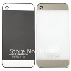 For iPhone 5 Design Battery Cover Back Housing for Iphone 4gs 4s Back/White Free Shipping 10pcs/lot HI1075(China (Mainland))