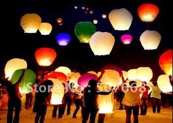 Sky Lanterns,Wishing Lantern fire balloon Chinese Kongming lantern Wishing Lamp for BI 200pcs/lot  Mix Order